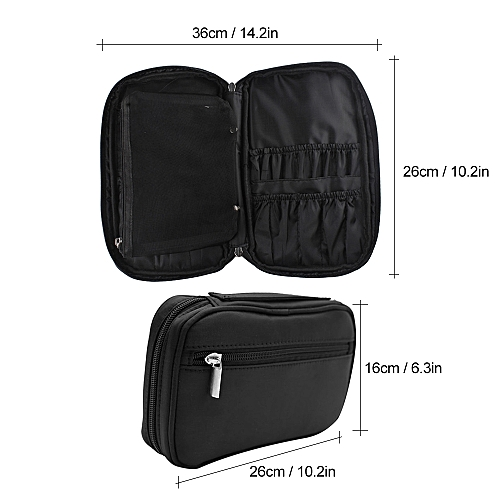 c68a84013b Generic Portable Travel Makeup Brush Bag Cosmetic Bag Organizer Waterproof  Large Capacity Multifunction Storage Case for Women