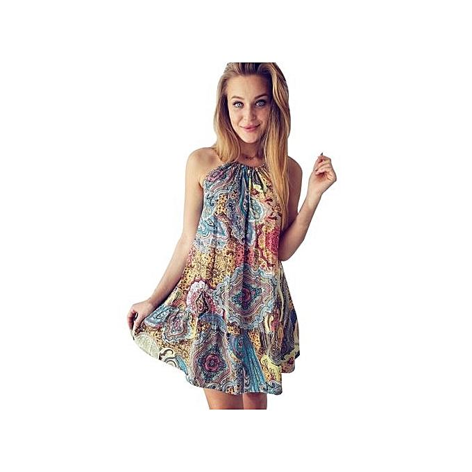 b94e911fdf1 Womens Summer Vintage Boho Mini Maxi Evening Party Beach Floral Dress