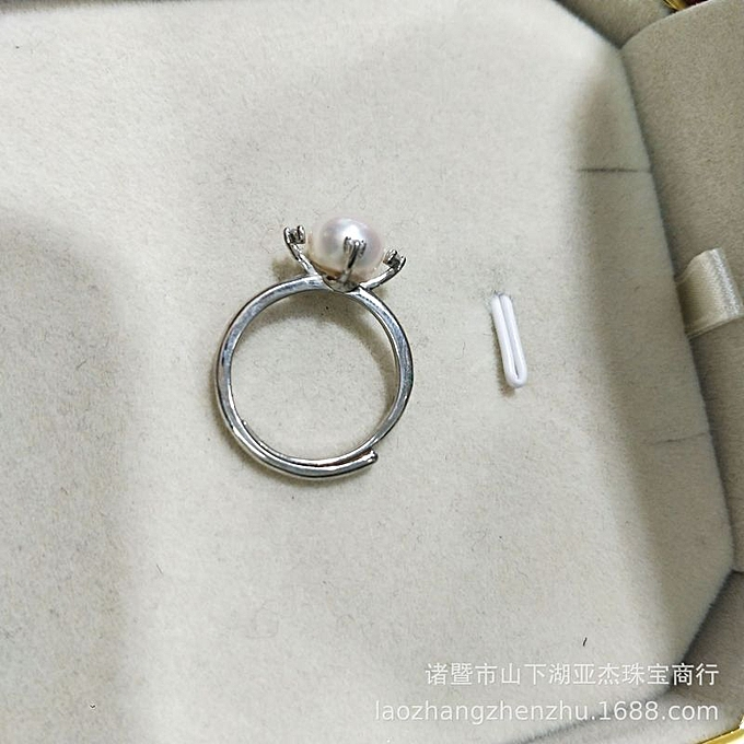 Old jewelry piece the fresh water pearl silver accessories 7
