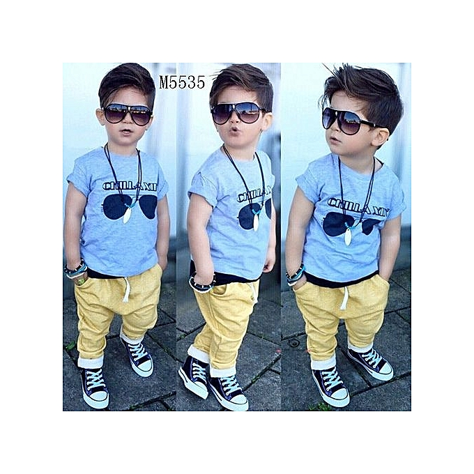 66f94072d0bb Comfortable NEW Fashion Summer Toddler Baby Kids Boys Clothes Tops T-shirt  + Long Pants