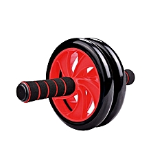 Rubber Coated Two Wheel Roller - RED