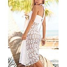 Sexy Women Bikini Crochet Convertible Cover Up Swimwear Mesh Hollow Beach Dress