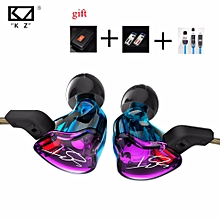 For KZ ZST 1DD+1BA Hybrid In Ear Earphone Balanced Armature HIFI DJ Monito Running Sport Earphones Earplug Headset Earbud-with microphone  XYX-S