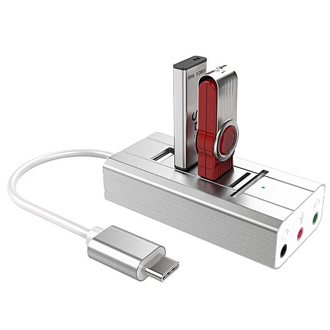 ... HP TYPE-C Multi-function Hub Sound Card 3 Port Stereo Audio USB Reader ...