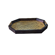 Oval Tray - Brown