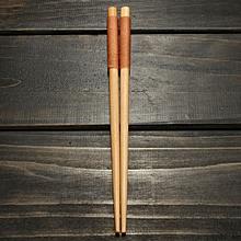 Variety Handmade Japanese Natural Wood Wooden Chopsticks Spoon Set Value Gift Khaki Winding