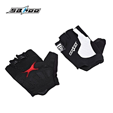 411217 Breathable Anti-slip Unisex Shock Resistant Outdoor Sports Half-finger Cycling Gloves M - Black