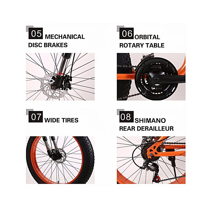"Exercise Bike Jumia Kenya: Ifreedom 26"" 21 Speed Black Orange Fat Tire Mountain Bike"