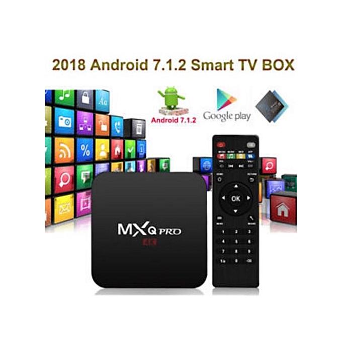 Pro 4K Android Smart TV Box CPU 4 Core, GPU Pentacore, 64 Bit HEVC H 265,  Wifi, 1GB+8GB Internal Memory