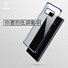 Baseus Plating Plastic Ultra Thin Transparent Hard PC Case For Samsung Galaxy Note 8 (Blue) MQSHOP
