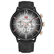 Fashion  Leather Men Watches 3ATM Water-resistant Quartz Wristwatch Man Relogio Musculino Chronograph