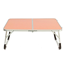 Portable Lapdesks Folding Laptop Table Stand Holder Bed Sofa Tray Computer Desk 360 Rolling Adjustable Notebook Desk for Outing Pink