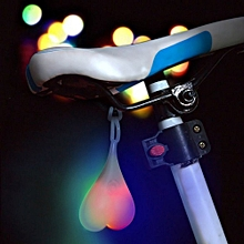 3W Waterproof Warning Bike-tail LED Night Light - Rgb