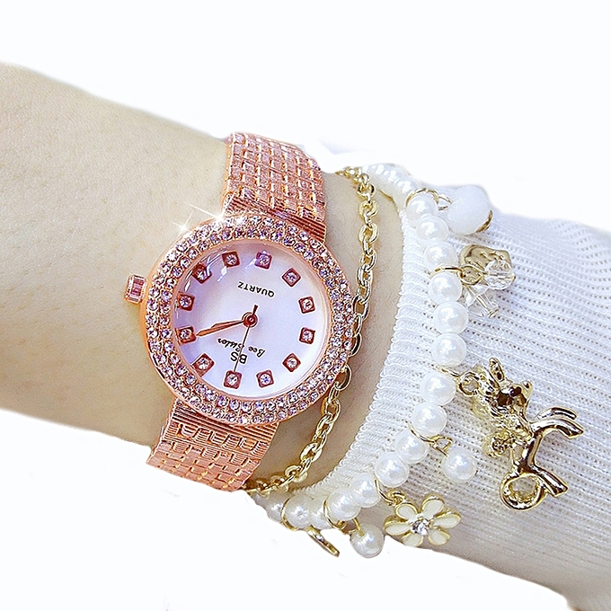 4f18ff7e2 Leadsmart Top Luxury Women Gold Fashion Lady Diamond Silver Girl Smart  Rhinestone Wrist Quartz Watch