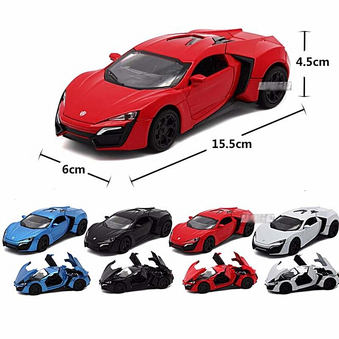 New 1:32 Fast&Furious 7 Lykan Hypersport Model Car with Light & Sounds,Door  Opening-Black