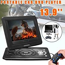 13.9'' Portable Car DVD Player 270° Black Screen W/Game Remote Control Travel