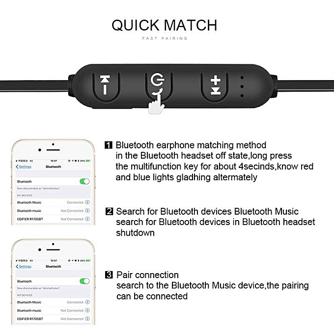 M9 Magnetic Bluetooth Headphones Wireless In-Ear Noise Reduction Earphone  With Microphone For Samsung Android