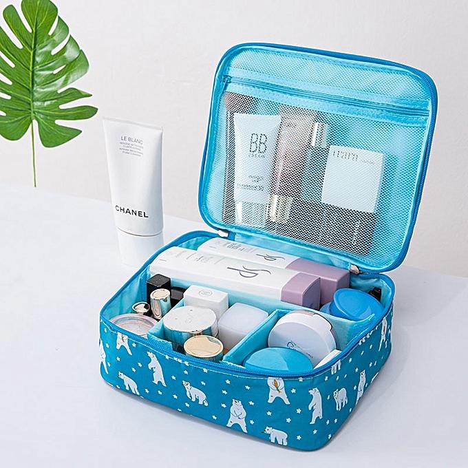 7b7f1f6768d2 organizer travel fashion lady cosmetics cosmetic bag storage bags large  capacity Women makeup bag H127(Style B Polar bear)