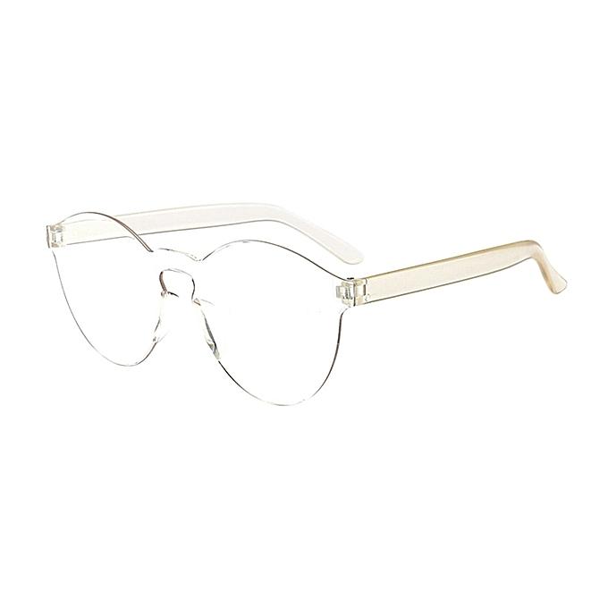 1e7c52a5dea6 Women Men Fashion Clear Retro Sunglasses Outdoor Frameless Eyewear Glasses