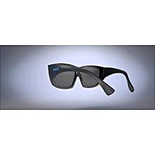 Passive Extra Large Lens 3D Glasses Eyewear for Cinema Movie - Black