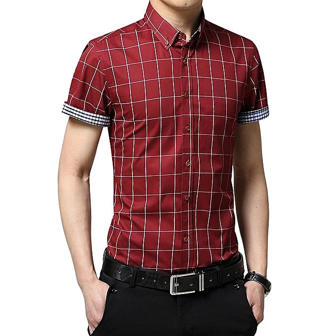 Longo 2019 Men S Short Sleeve Shirt Summer Business Formal Casual