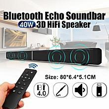 LEORY EU/ US/ UK LP-09 Bluetooth Speaker Soundbar 40W Home Theater TV Speaker Wireless Remote TF Card 4 Loudspeakers