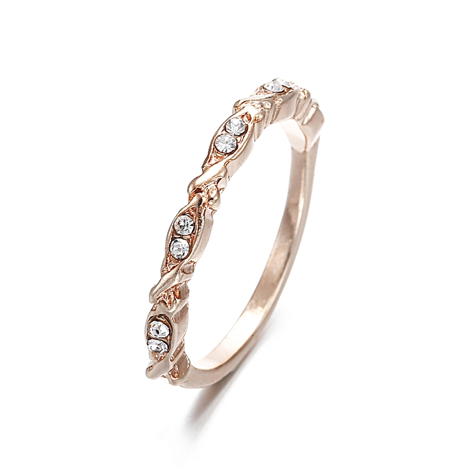 80c8af79671 Fashion Hot-selling micro-diamond Rose Gold Wedding Ring Jewelry ...