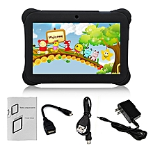 Q88 7-Inch Children Tablet 512MB+8GB US Plug Kids Pad Students Learning Tablet black