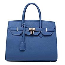 Blue big size women bag high quality pu shoulder hand bag