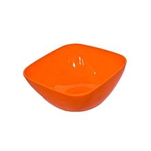 Large square Salad Bowl - Orange