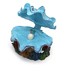 Shell Pearl & Air Stone Shell Bubbler Bubbling Decor Fish Tank Ornament Aquarium