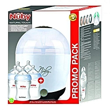Sterilizer Electric Bottle + 5 FREE Bottles - clear