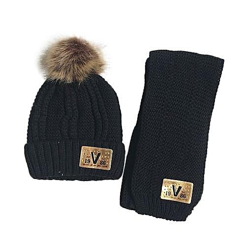Eissely 2Pcs Baby Cute Winter Kids Baby Hats Keep Warm Set Cute Hat Scarf d4f474fda04