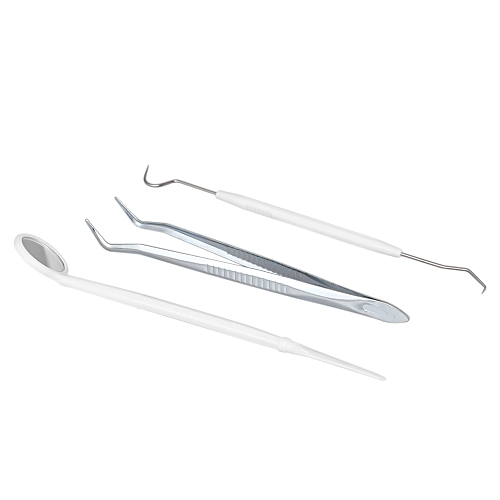 Generic 3pcs Stainless Steel Dental Tools Kit Double Head