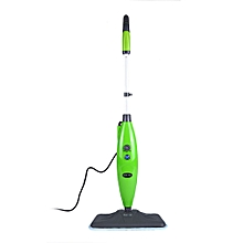 S3239 Multifunctional Steam Cleaner Floor Kitchen Carpet Handheld Steamer Mop GREEN US PLUG