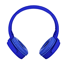 Bluetooth Headphone Wireless FM Mode, TF card Supported, Calling Function - Blue