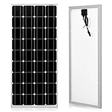 Panel -  80W - 12volts - Black & Aluminium