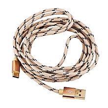 Type C Braided Data Sync Charging USB 3.1 Cable 3M Gold
