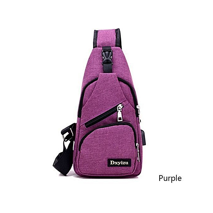 1bd3fb2bd7 Fashion External USB Charge Backpack Chest Pack Casual Men s Travel  Shoulder Bag Crossbody Sacoche Homme Sling Bagpack Women Rucksack