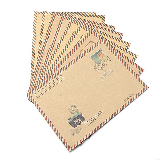 buy generic kicute 8pcs set vintage style kraft paper envelope diy
