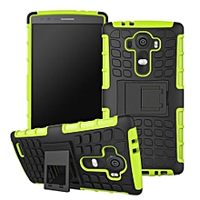Gel Heavy Duty Rugged Dual Layer Case With kickstand For LG G4 Green-Green