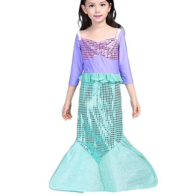 Buy Generic Girls dresses Little Mermaid Fancy Kids Girls Mermaid ...