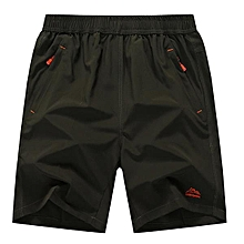 Mens Plus Size S-6XL Loose Casual Outdoor Solid Color Knee-length Sports Beach Shorts