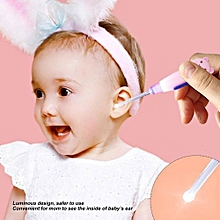 [Free Shipping]Cute Cartoon LED Flashlight Earpick Earwax Remover With Scoop Tweezers Cleaner Care Tool