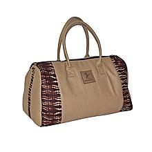 Duffle travel bag with an ankara print