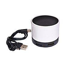 Mini Bluetooth Wireless Stereo Speakers FM, Memory Card, Bluetooth, USB - White