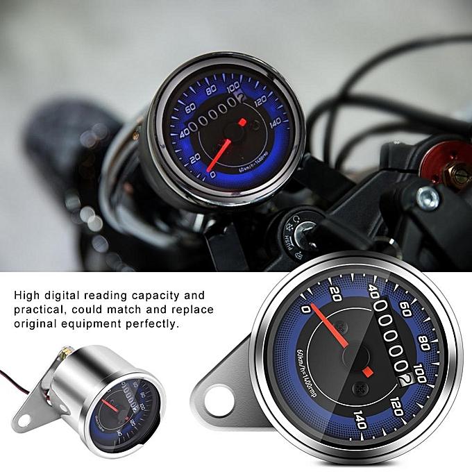 1pc Universal Motorcycle Odometer Motorbike Speedometer Gauge K/MH Speedo  Meter