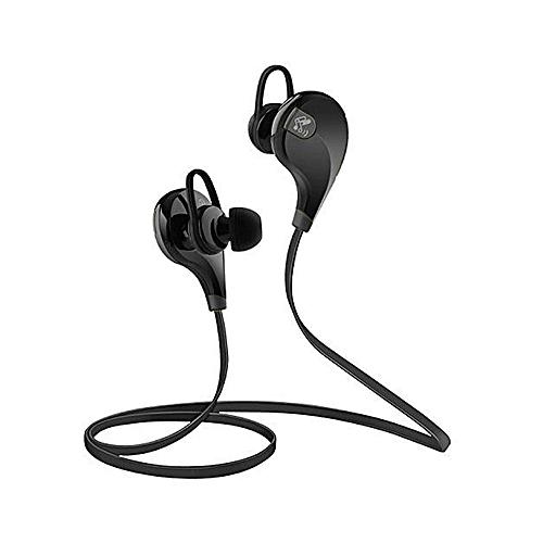 Heavy Bass Noise Isolating Bluetooth Earphones - Black