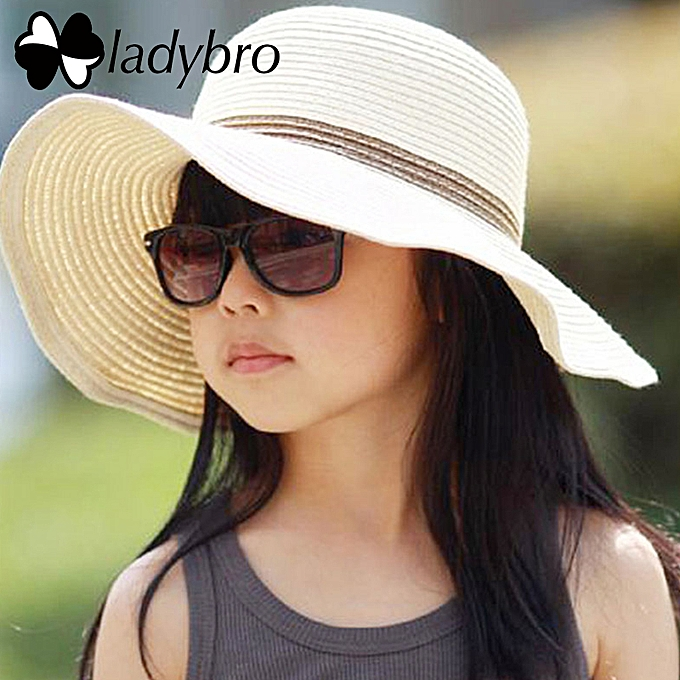 0b108621 ... Wide Brim Floppy Kids Straw Hat Sun Hat Beach Women Hat Children Summer  Hat UV Protect ...