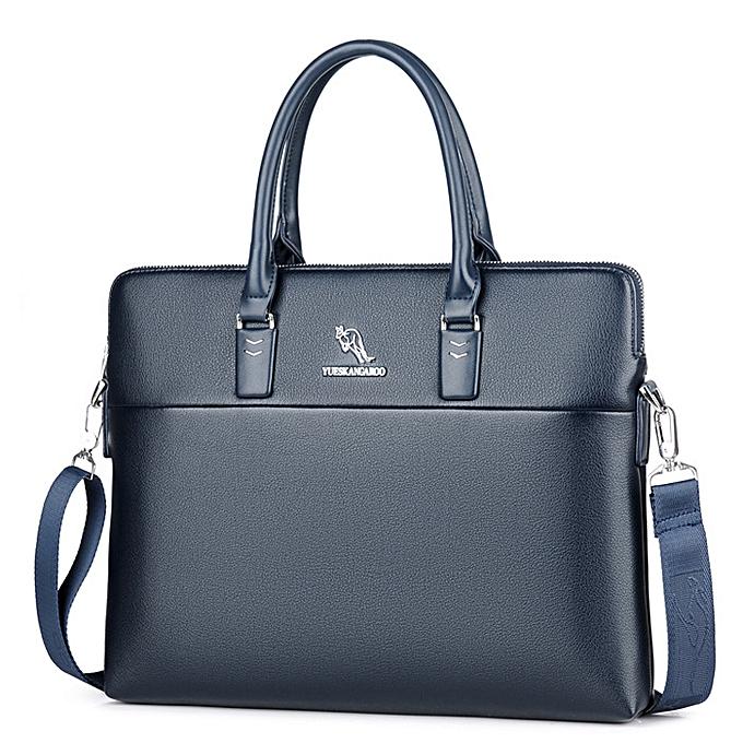 f4d55602a62e 2018 Luxury Brand Briefcase Leather Handbag Men Bags Office Men Messenger  Bags Man Travel Crossbody Bags For Men's Shoulder Bag(Blue)